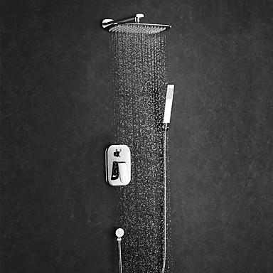 ברז למקלחת - עכשווי כרום מערכת למקלחת / Brass / חורים ארבע ידית אחת
