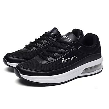 בגדי ריקוד גברים נעליים PU אביב / סתיו מוקסין נעלי ספורט לבן / שחור