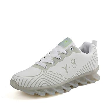 בגדי ריקוד גברים נעלי נוחות PU אביב / סתיו נעלי אתלטיקה לבן / שחור / כחול