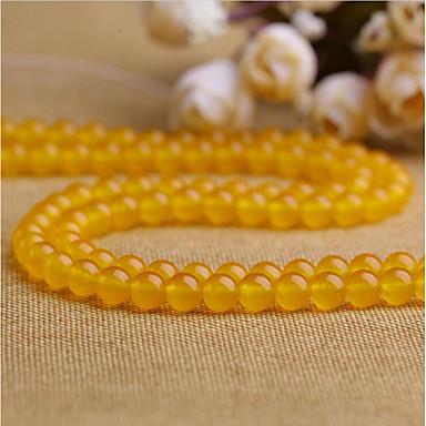 תכשיטים DIY 38 יח חרוזים קריסטל צהוב עגול חָרוּז 1 cm עשה זאת בעצמך שרשראות צמידים