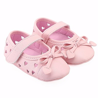 בנות נעליים דמוי עור אביב נוחות / צעדים ראשונים שטוחות ל שחור / כסף / ורוד