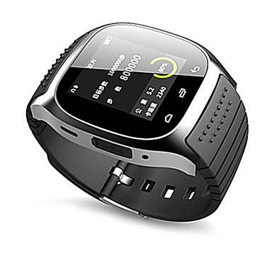 baratos Relógios Senhora-Casal Relógio Esportivo Relógio Quadrado Automático - da corda automáticamente Silicone Preta Bluetooth Controlo Remoto Pedômetros Analógico-Digital Luxo Casual Fashion - Branco Preto Azul