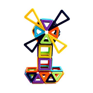 בלוק מגנטי אבני בניין 60 pcs מכונית אינטראקציה בין הורים לילד משאית רכב בנייה בנים בנות צעצועים מתנות