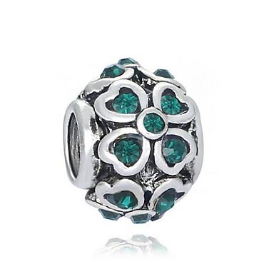Gioielli Fai-da-te 1 Pezzi Perline Diamanti D'imitazione Lega Bianco Verde Tonda Perlina 0.2 Cm Fai Da Te Collana Bracciali #06525667