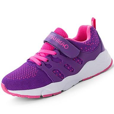 בנות נעליים סריגה / חומרים בהתאמה אישית קיץ נוחות נעלי אתלטיקה ריצה / שטח / הליכה שרוכים / וו ולולאה ל כחול / שחור אדום / שחור / ירוק