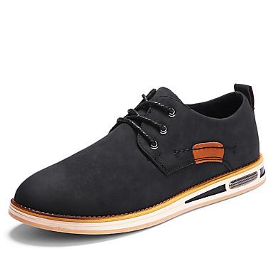 בגדי ריקוד גברים נעליים פורמליות דמוי עור אביב / קיץ נעלי אוקספורד שחור / חום / חום כהה