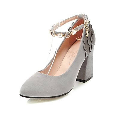b0b684c97 Women's Shoes Nubuck leather Spring / Fall Comfort / Ankle Strap Heels  Chunky Heel Pointed Toe