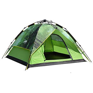 DesertFox® 4 شخص خيم حقيبة الظهر طبقات مزدوجة أوتوماتيكي القبة خيمة التخييم غرفة واحدة  في الهواء الطلق مكتشف الأمطار 2000-3000 mm  إلى عن على تخييم أكسفورد / مقاوم للماء / مقاوم للماء