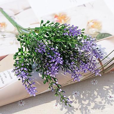 פרחים מלאכותיים 2 ענף פסטורלי סגנון צמחים פרחים לשולחן