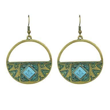 בגדי ריקוד נשים טורקיז עגילי טיפה - אופנתי ירוק עבור יומי / פגישה (דייט)