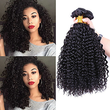 3 חבילות שיער ברזיאלי Kinky Curly שיער ראמי טווה שיער אדם 8-28 אִינְטשׁ שוזרת שיער אנושי תוספות שיער אדם / קינקי קרלי