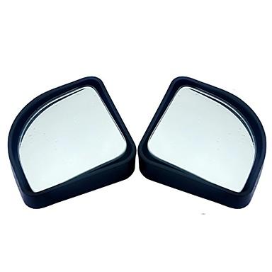 2pcs / lot אביזרים לרכב קטן עגול המראה מראה המכונית ראייה עיוור זווית רחבה זווית 360 מעלות סיבוב מתכוונן