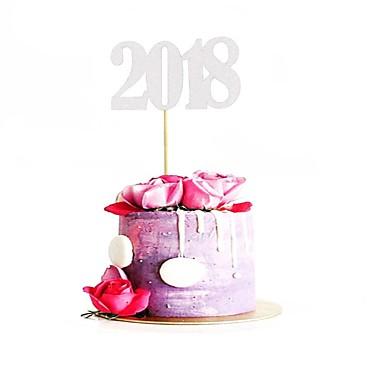 קישוטים לעוגה חופשה / חתונה / משפחה זוהר ונוצץ / אוניברסלי נייר יום הולדת / סיום לימודים עם הדפסה 1 pcs OPP