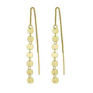 בגדי ריקוד נשים עגילי טיפה - אופנתי זהב / כסף עבור יומי / פגישה (דייט)