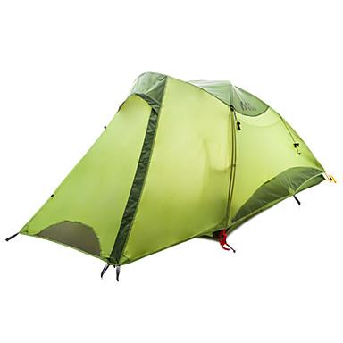 MOBI GARDEN 2 personer Telt Dobbelt Lagdelt camping Tent Utendørs Turtelt Bærbar / Vanntett / Hold Varm til Vandring / Camping / Utendørs
