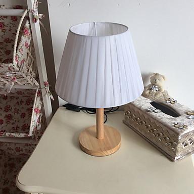 מסורתי / קלסי דקורטיבי מנורת שולחן עבור חדר שינה / מסדרון עץ / במבוק לבן / כתום