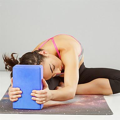 Yogablokk 1 pcs Høy tetthet, Fukttett, Lettvekt, Luktbestandig EVA Støtter og utdyper posisjoner, Balansestøtte og fleksibilitet Til Pilates / Trening / Treningssenter Grønn, Blå, Rosa