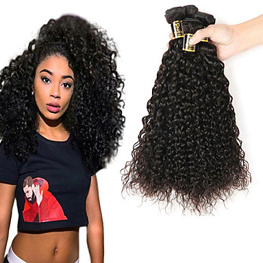 3 חבילות שיער ברזיאלי Kinky Curly שיער אנושי טווה שיער אדם 8-28 אִינְטשׁ שוזרת שיער אנושי תוספות שיער אדם / קינקי קרלי