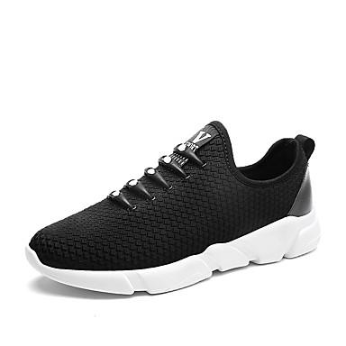 בגדי ריקוד גברים רשת אביב / סתיו נוחות נעלי אתלטיקה הליכה שחור / אפור