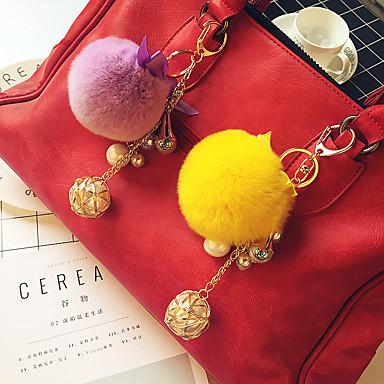 אופנה מצדדים במחזיק מפתחות מטאלי / שיער ארנב רקס מזכרות מחזיקי מפתחות - 1 pcs כל העונות
