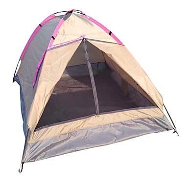 LANGYA 2 אנשים אוהלים לטיפוס הרים יחיד עמוד Dome קמפינג אוהל חיצוני ייבוש מהיר, נשימה ל קמפינג פּוֹלִיאֶסטֶר