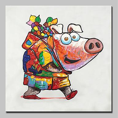 ציור שמן צבוע-Hang מצויר ביד - חיות מודרני בַּד