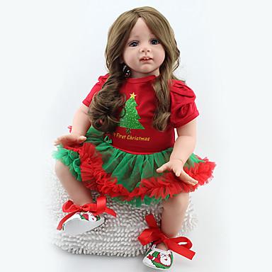tanie Lalki Reborn-NPKCOLLECTION NPK DOLL Lalki Reborn Dziecko 24 in Silikon Winyl - Jak żywy Śłodkie Wyrób ręczny Bezpieczne dla dziecka Nietoksyczne Słodkie Dzieciak Dla dziewczynek Zabawki Prezent / Certyfikat CE