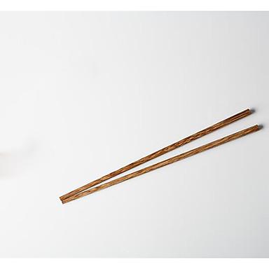 10pcs עץ מקלות אכילה