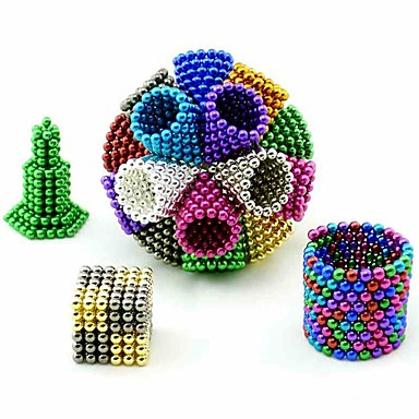 648 pcs 5mm Magnetiske leker Magnetiske kuler / Byggeklosser / Puzzle Cube Magnet Voksne Gave
