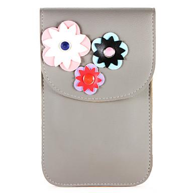 מגן עבור Huawei P10 / P9 ארנק / מחזיק כרטיסים תיק פאוץ' פרח רך עור PU ל P10 Plus / P10 Lite / P10