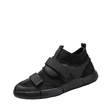 בגדי ריקוד גברים נעליים בד אביב / סתיו סוליות מוארות נעלי ספורט שחור / אדום