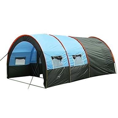 7 person Tunnelltelt / Telt Enkelt camping Tent To Rom Utendørs Familie Camping Telt Bærbar / Vindtett / Støvtett til Fisking / Strand /
