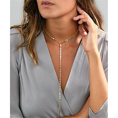 29d2731af2e4 Mujer Collares con colgantes Collar Y collar largo Europeo Moda Dorado  Plata Gargantillas Joyas 1 Para