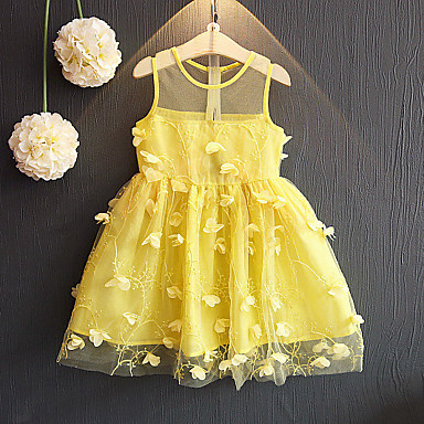 שמלה ללא שרוולים טלאים סגנון רחוב בנות פעוטות / חמוד