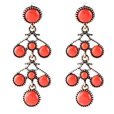 בגדי ריקוד נשים טנזניט סינתטי עגילי טיפה - שרף וינטאג', אופנתי אדום עבור Party / מסיבת ערב