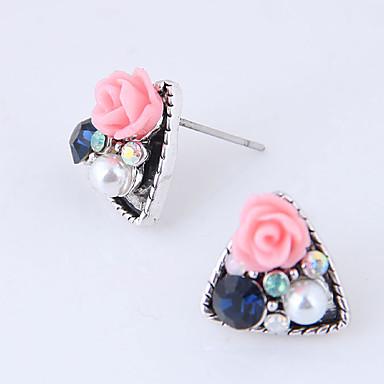 בגדי ריקוד נשים עגילים צמודים - פרחוניים / בוטניים, פרח מתוק לבן / ורוד עבור יומי