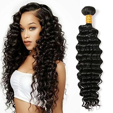 1 עניץ שיער פרואני גל עמוק 8A שיער אנושי טווה שיער אדם שוזרת שיער אנושי תוספות שיער אדם בגדי ריקוד נשים