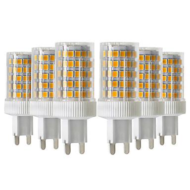 YWXLIGHT® 6pcs 10W 900-1000lm G9 נורות שני פינים לד T 86 LED חרוזים SMD 2835 Spottivalo לבן חם לבן קר לבן טבעי 220-240V