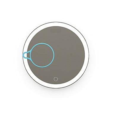 נורות LED נייד זורח סיום מט זכוכית מגדלת מראה אור עמום מראת איפור Smart לד לראיית לילה Back Light Comp שיקוף איכות גבוהה סגסוגת אלומיניום