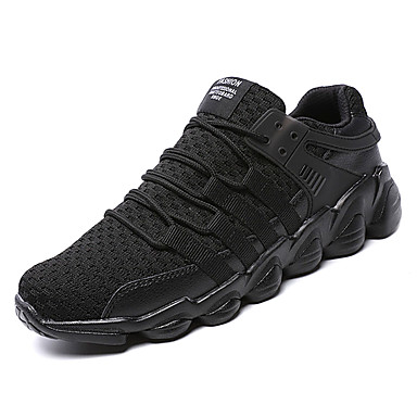 בגדי ריקוד גברים טול אביב / סתיו נוחות נעלי ספורט לבן / שחור / אפור