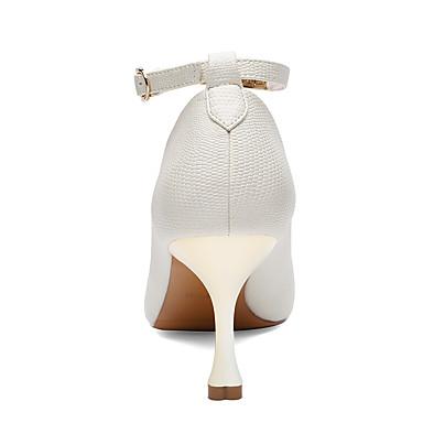 Talon Aiguille Basique de Chaussures 06602256 synthétique Automne à Blanc Gladiateur PU Chaussures microfibre Printemps Femme Talons Escarpin Hw6xOqpFxT