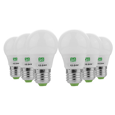 YWXLIGHT® 6pcs 3W 200-300lm E26 / E27 נורות גלוב לד 6 LED חרוזים SMD 5730 דקורטיבי לבן חם לבן קר 12-24V