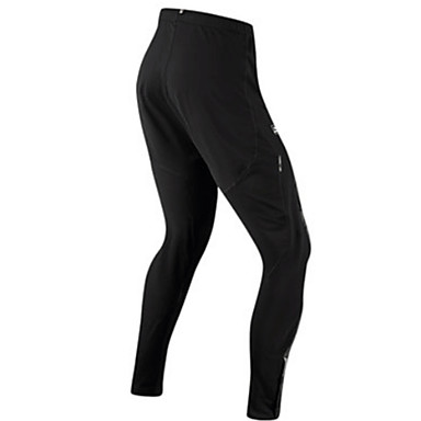 SANTIC בגדי ריקוד גברים טייץ לרכיבה / מכנסי רכיבה אופניים תחתיות עמיד אחיד שחור בגדי רכיבת אופניים