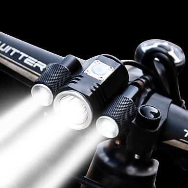 Eclairage de Velo Eclairage de Vélo Avant Phare Avant de Moto LED Cyclisme Imperméable Ajustable Grand angle Batterie rechargeable 1900 lm Pile au Lithium Rechargeable Blanc Cyclisme
