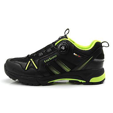 billige Sykkelsko-Tiebao® Mountain Bike-sko Anti-Skli Sykling Grønn / Svart Herre Sykkelsko / ånd bare Blanding / Krok og øye