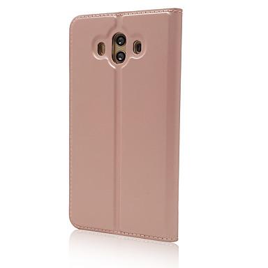 מגן עבור Huawei Mate 10 מחזיק כרטיסים עם מעמד כיסוי מלא צבע אחיד קשיח עור PU ל Mate 10