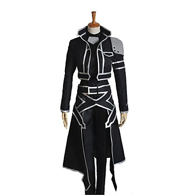 Zainspirowany przez Sword Art Online Cosplay / SAO Kirito Swordman Anime Kostiumy cosplay Garnitury cosplay Inne Długi rękaw Płaszcz / Top / Spodnie Na Męskie / Damskie Kostiumy na Halloween