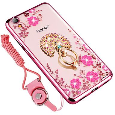 מגן עבור Huawei Enjoy 5A עמיד בזעזועים / ריינסטון / מחזיק טבעת כיסוי אחורי פרח רך סיליקון ל Enjoy 5A