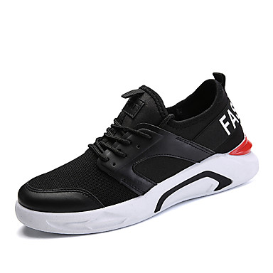 בגדי ריקוד גברים טול אביב / קיץ נוחות נעלי ספורט לבן / שחור / כחול