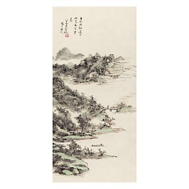 הדפסי בד מגולגל קלסי, פנל אחד אריג מפואר נייר Xuan אנכי דפוס דקור קיר קישוט הבית